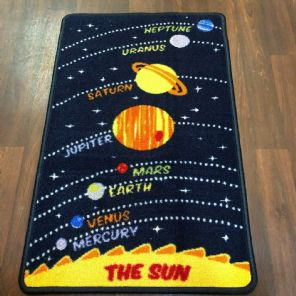 NON SLIP 50x80CM SPACE MATS WASHABLE TOP QUALITY SMALL MATS KIDS HOME/SCHOOL